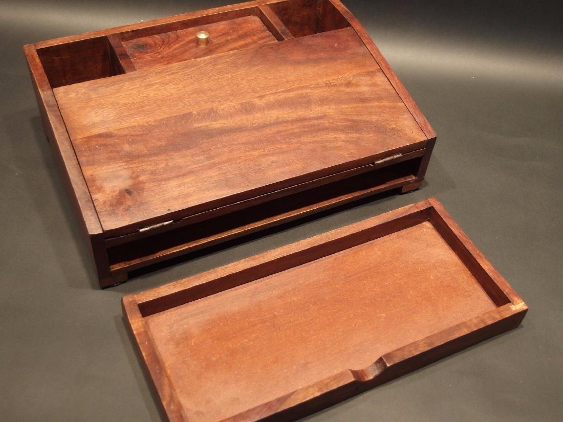 Folding Document Writing Slope Lap Desk Campaign Box - 5