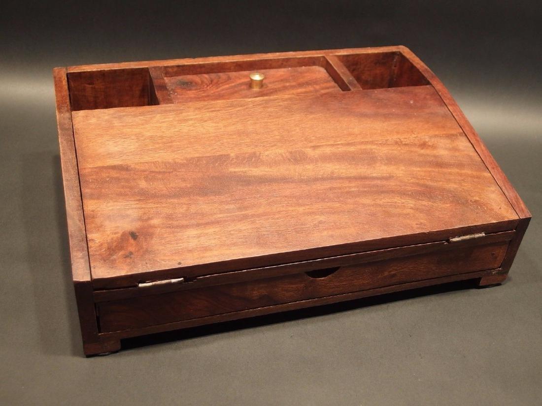 Folding Document Writing Slope Lap Desk Campaign Box - 6