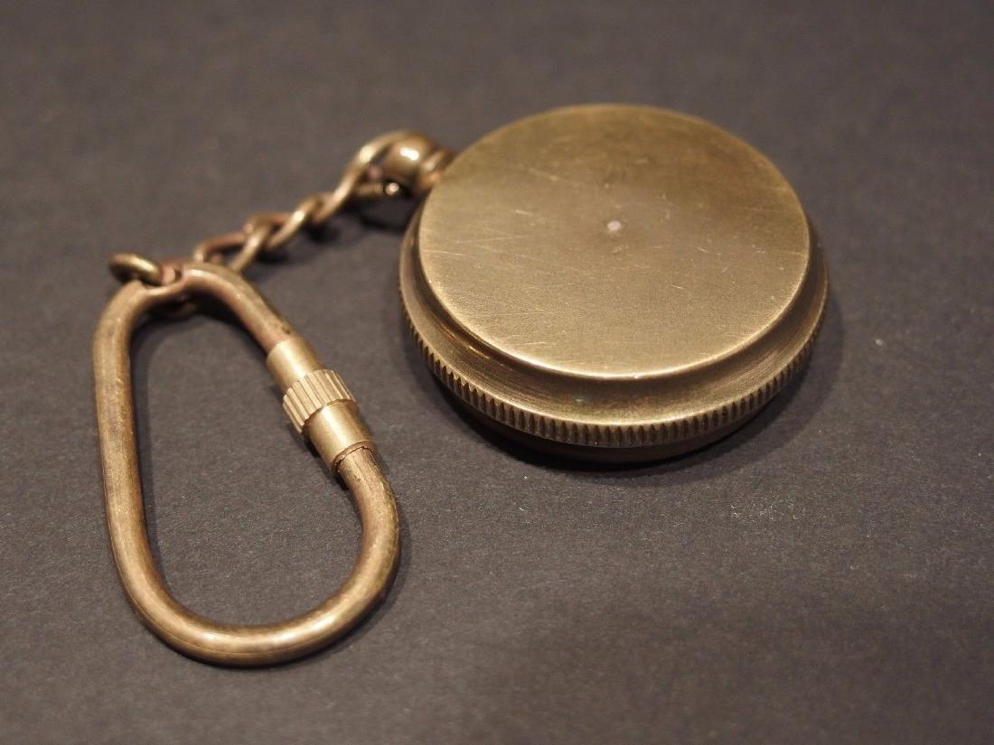 Solid Brass Compass Keychain - 3