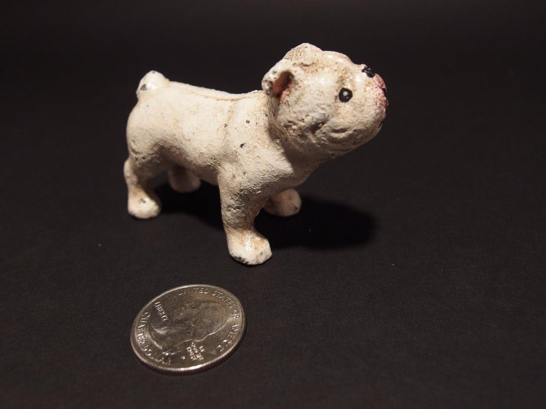 Miniature Cast Iron White Bull Dog - 2