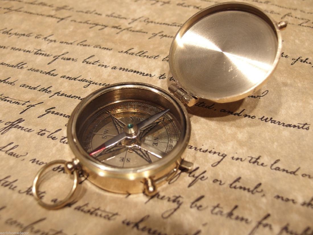 Brass Heavy Maritime Navigational Compass