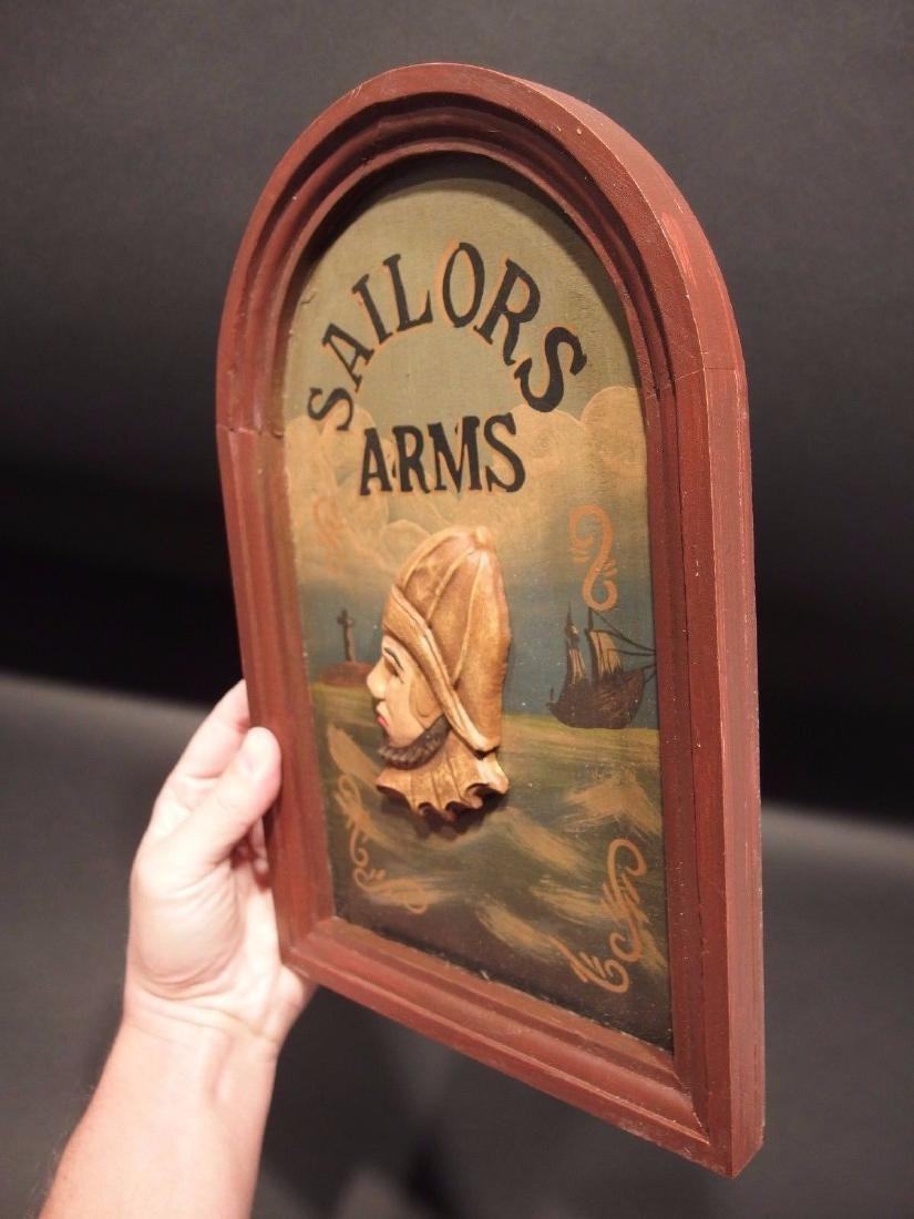 Wood English Pub Sailor Arms Trade Sign