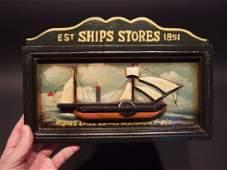 Wood English Pub Ship Stores 1851 Sailor Trade Sign