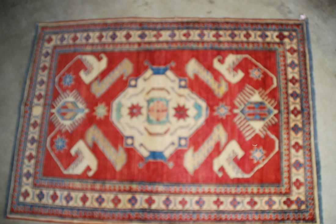Vintage Mid- 20th Century Kazak  Rug 5.x4