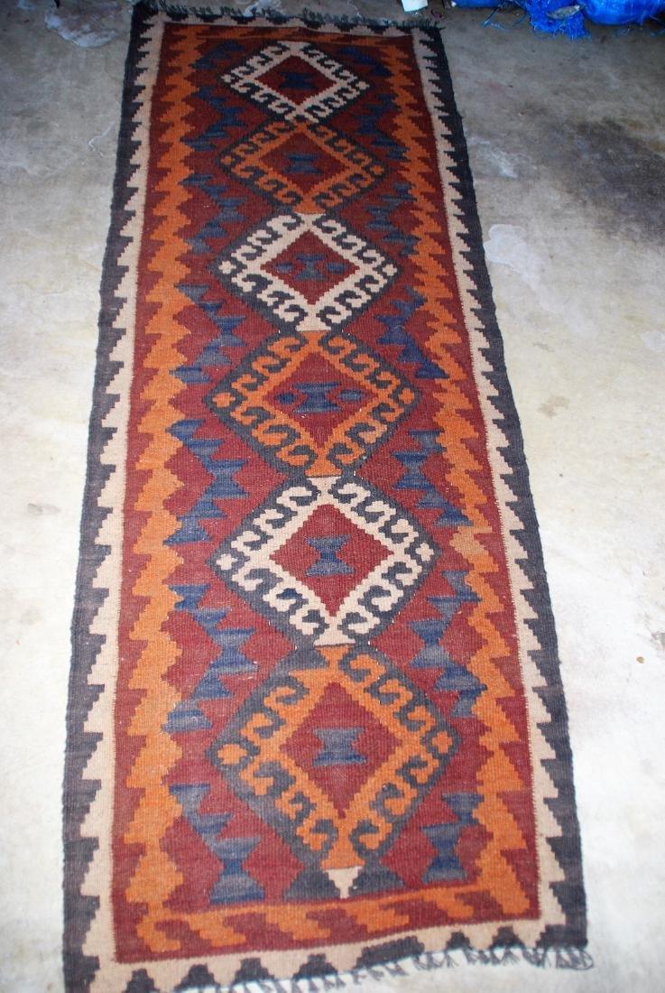 Vintage Afghan Tribal Kilim Runner Rug 6x2.2