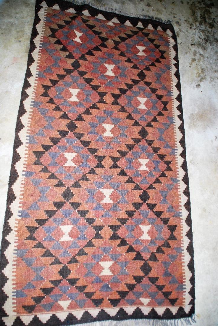 Vintage Afghan Tribal Kilim Runner Rug 6.6x3.3