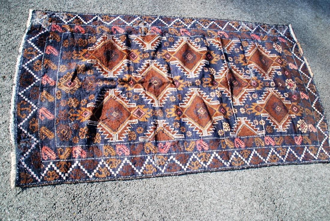 Antique Persian  Rug 6x3.6