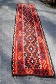 Vintage Afghan Kilim Runner Rug 9.10x2.5
