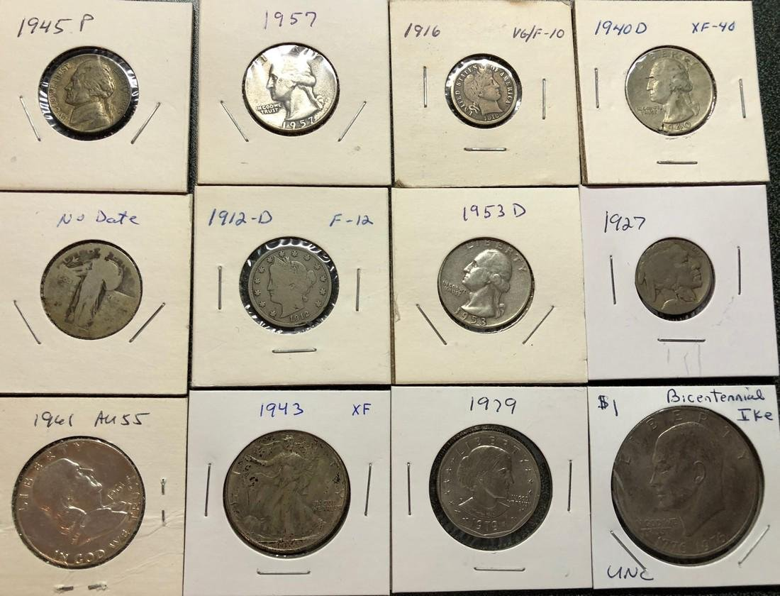 17 Coin Odd Lot Including Silver Coins