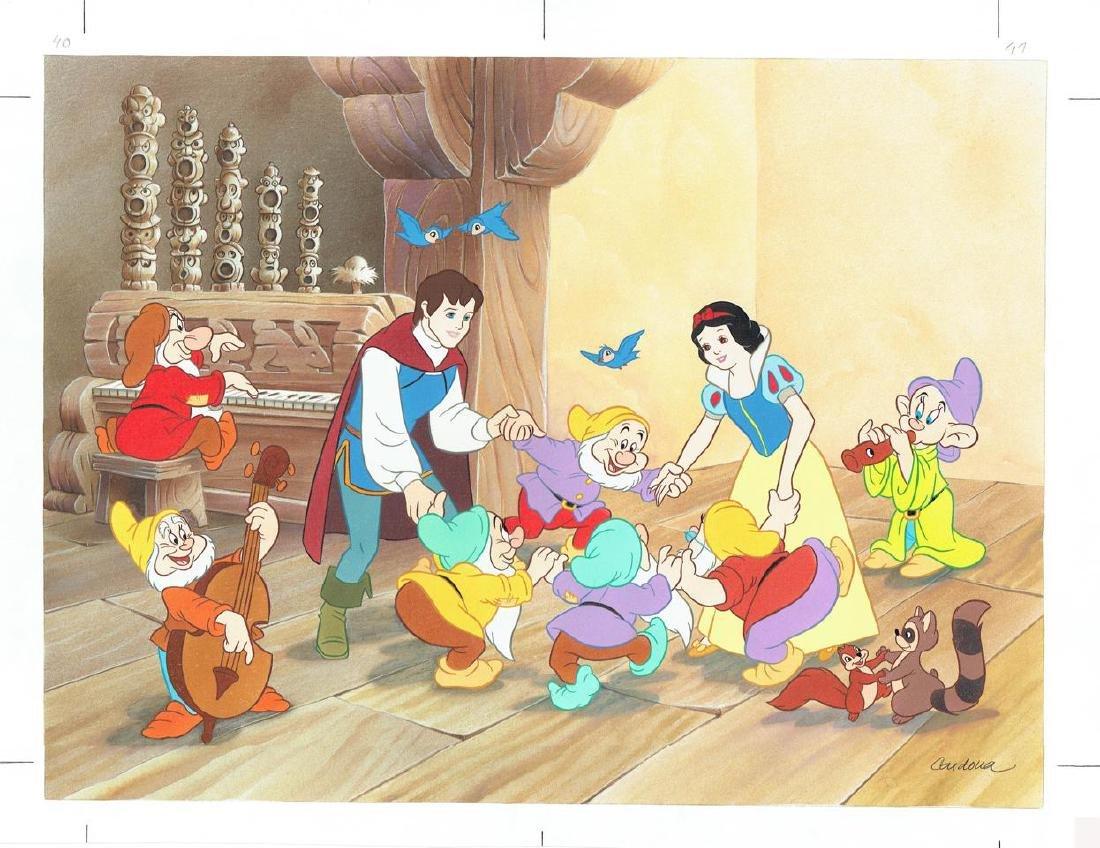 Original Drawing - Snow White Prince & The Seven Dwarfs