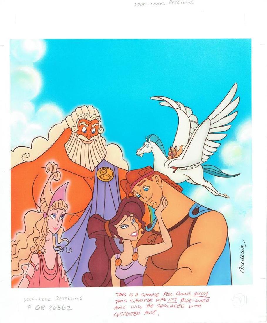 Hercules, Megara and Zeus Original Drawing JM Cardona