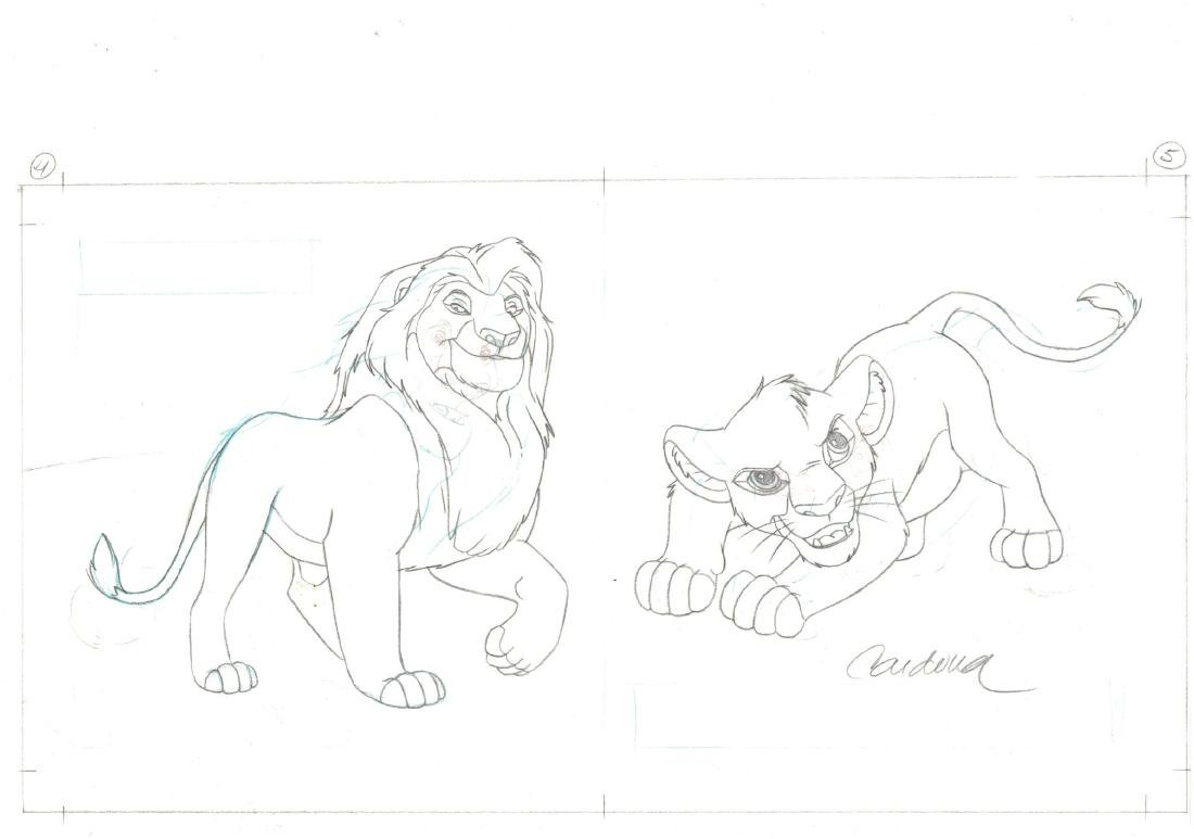 Lyon King Original Production Drawing JM Cardona