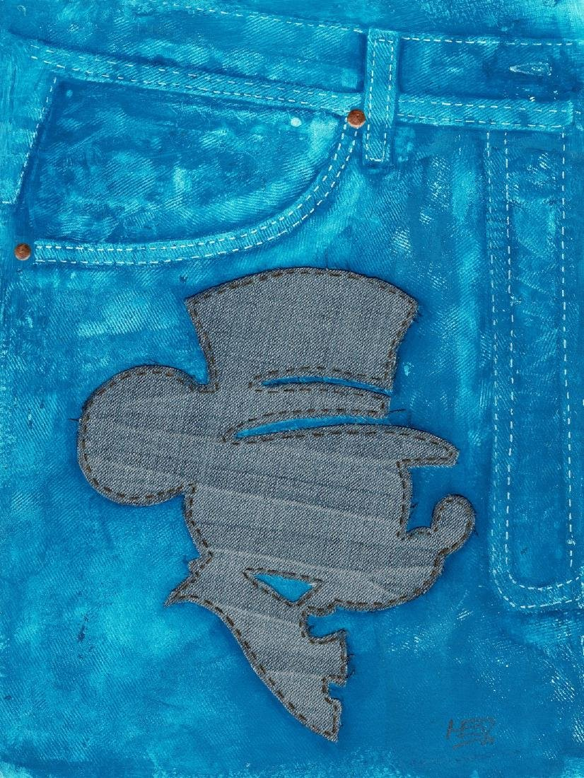 Mixed Media - Mickey Jeans MEB