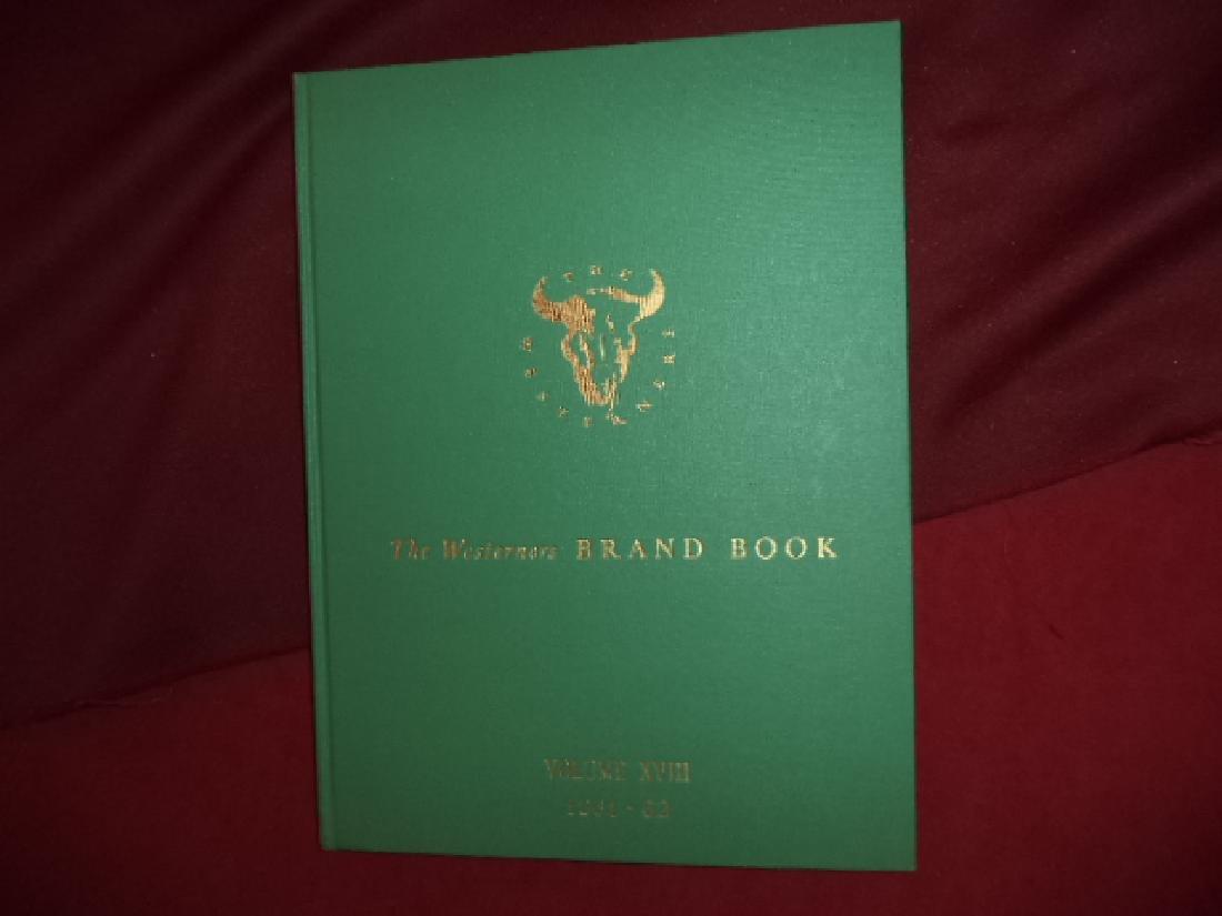 The Westerners Brand Book. Volume XVIII.
