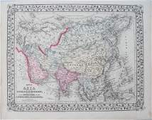 1871 Mitchell Antique Map of Asia