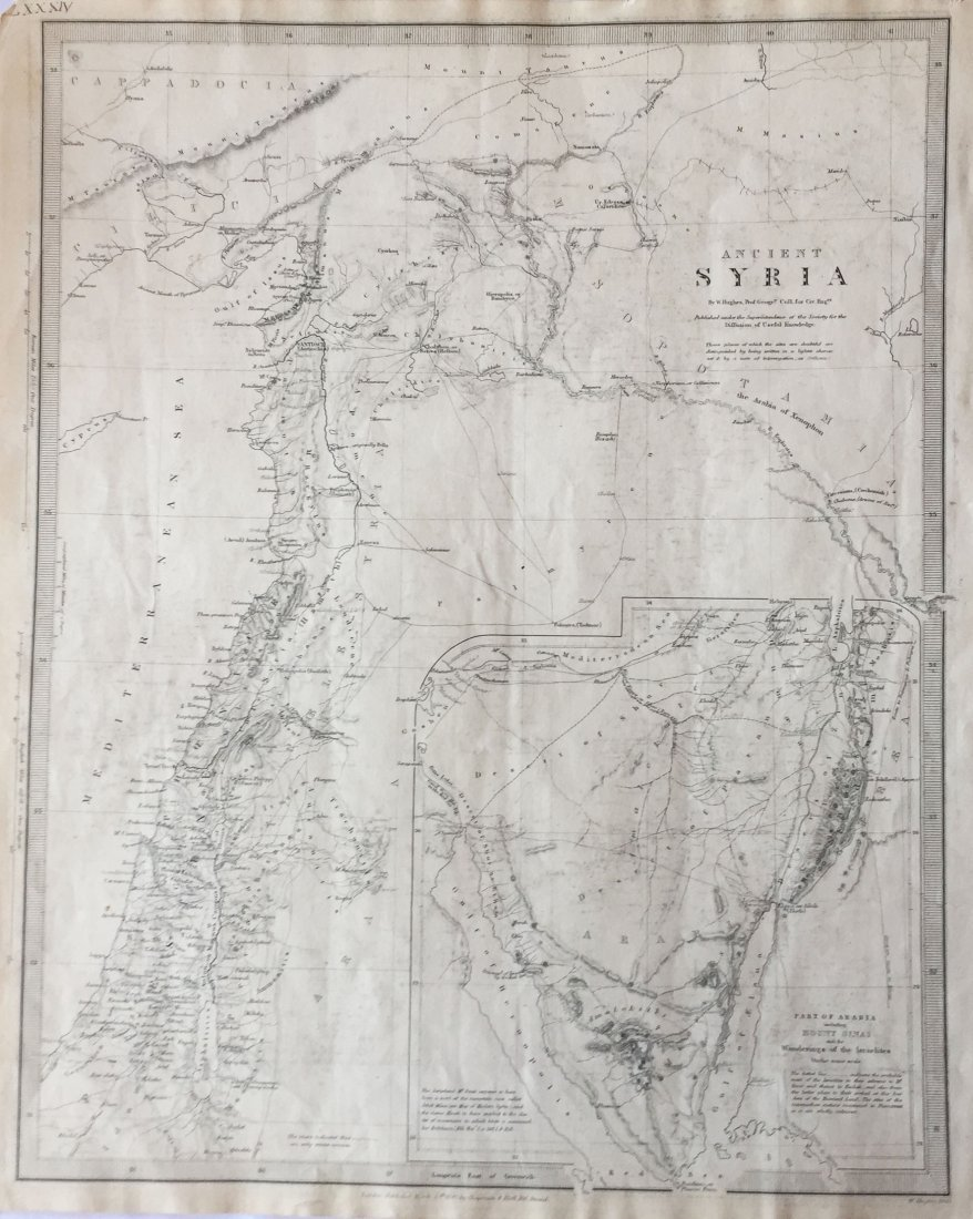 Chapman & Hall / SDUK: Map of Ancient Syria, 1843