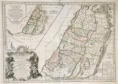 de Vaugondy / Fortin: Map of the Land of Israel, 1778