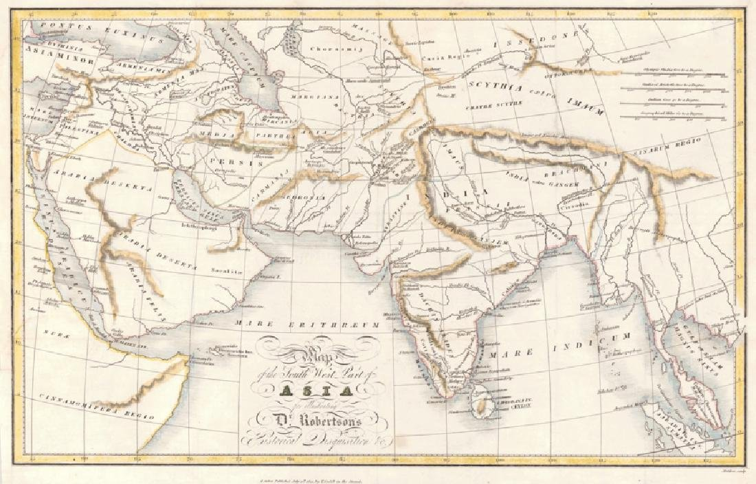 Map of the South West Part of Asia, 1821