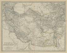 Johnston: Antique Map of Persia and Afghanistan, 1879