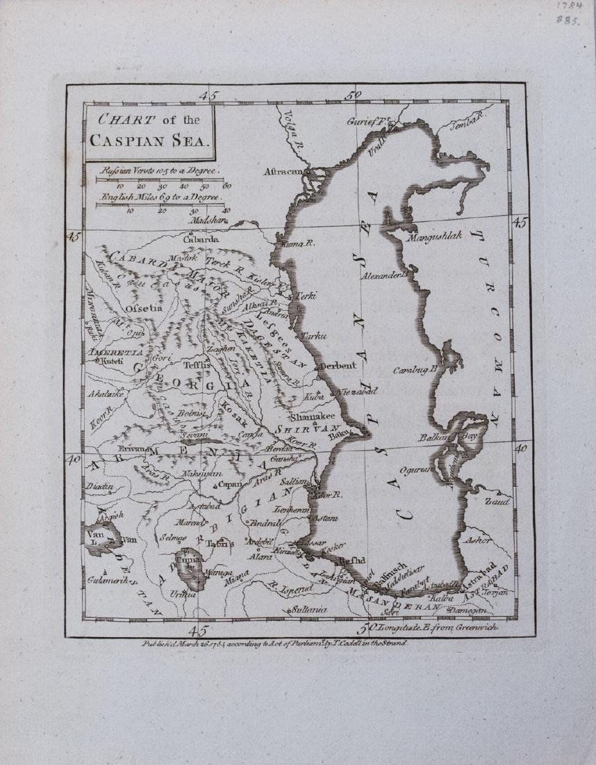 1784 Cadell Antique Map of the Caspian Sea Region