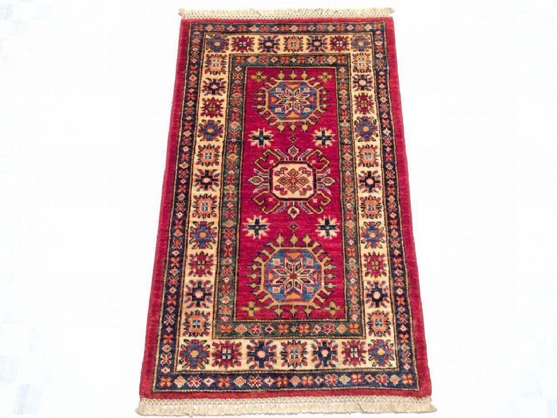 Kazak Hand Made Lamb Wool Carpet Rug 3.1x1.8