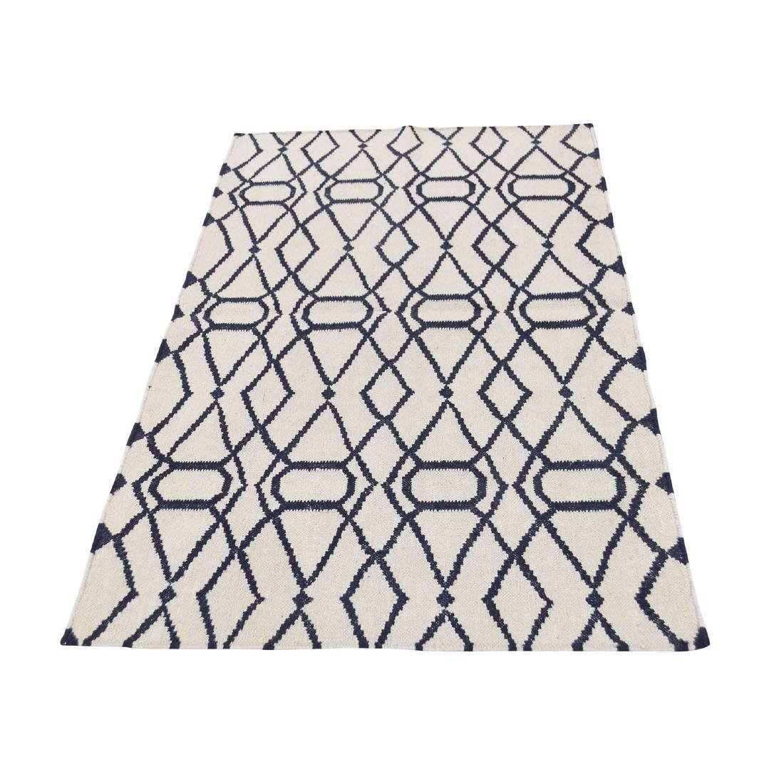 Hand Woven Durie Kilim Reversible Pure Wool Rug 3x5.2