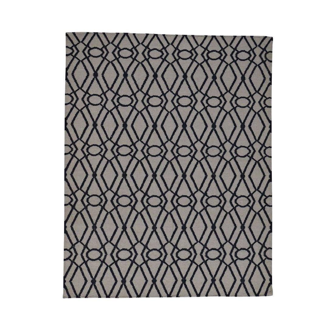 Wool Durie Kilim Flat Weave Hand-Woven Rug 5.3x6.10