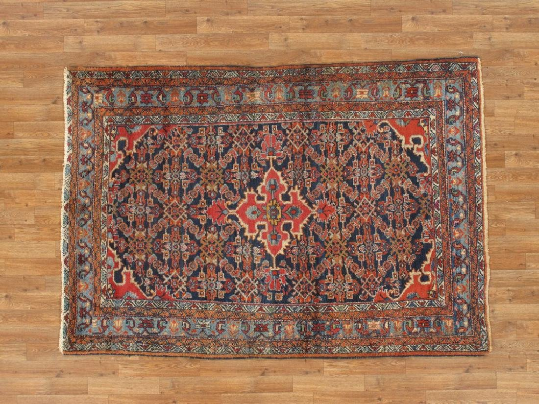 Semi-Antique Persian Hamadan Rug 4.7x6.8