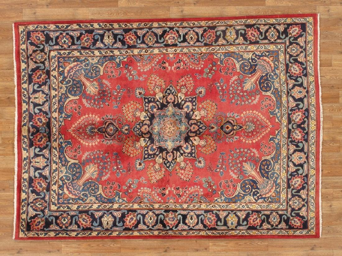 Semi-Antique Persian Hamadan Rug 4.11x6.10