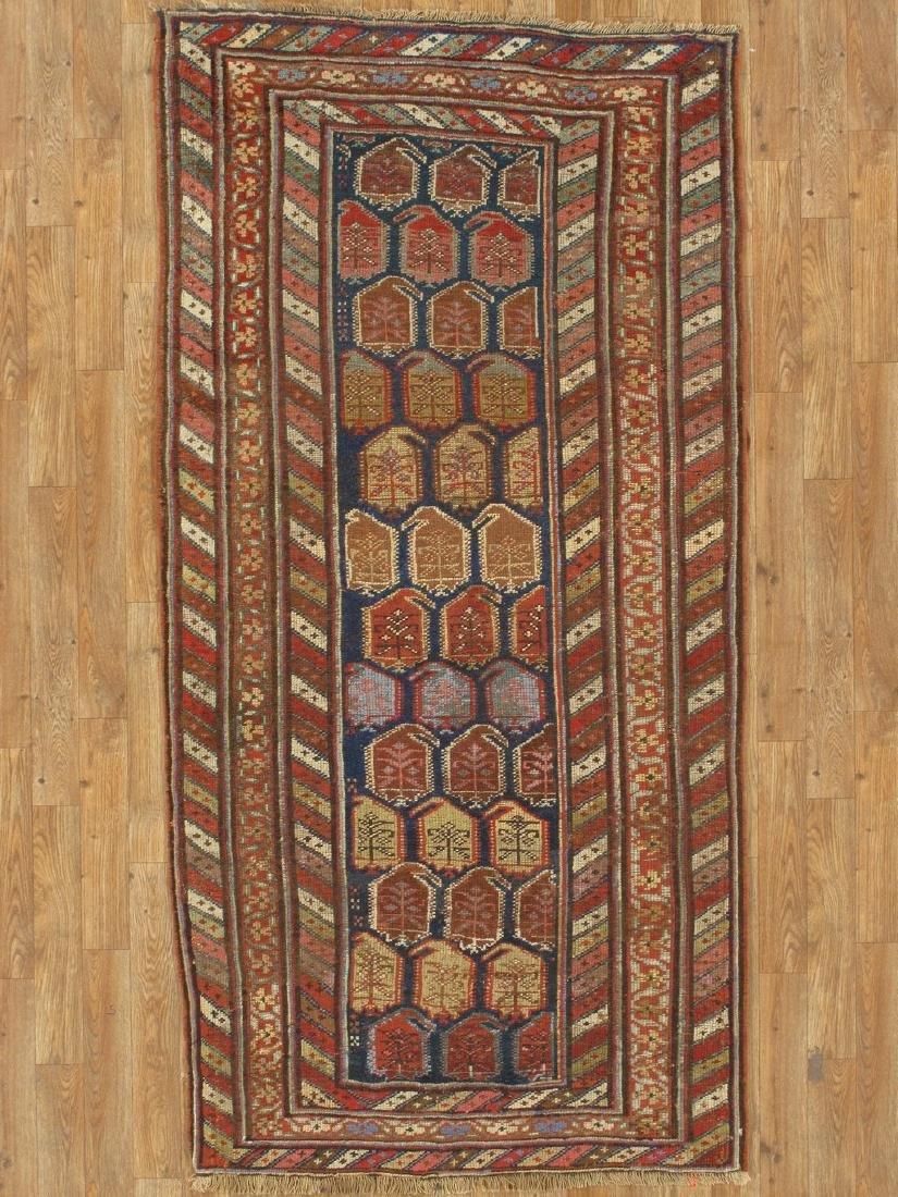 Antique Kazak Rug 3.11x6.6