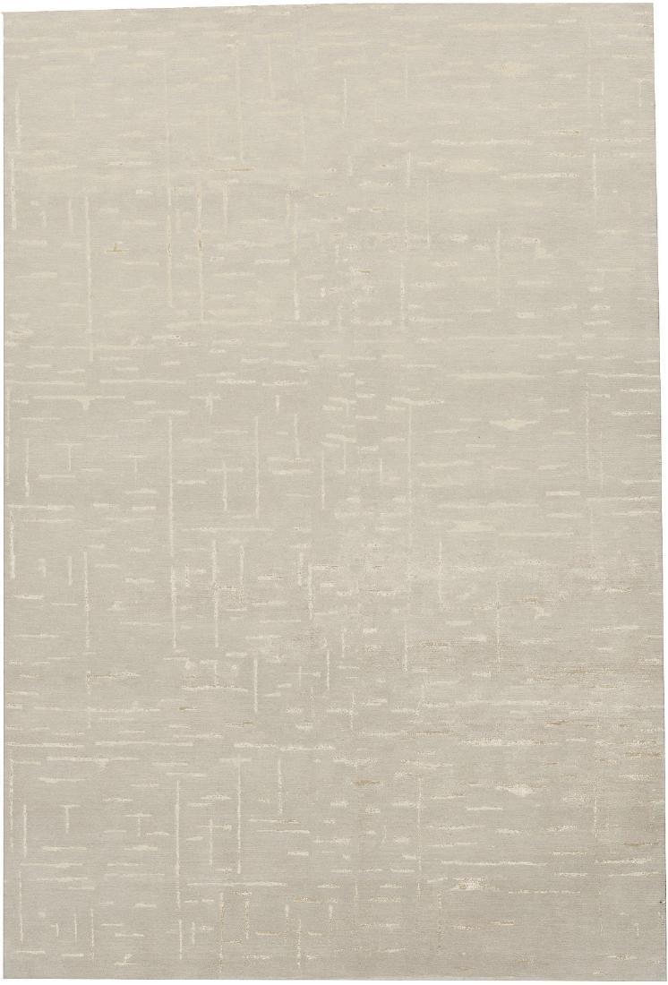 Tibetan Wool & Silk Rug 6x9