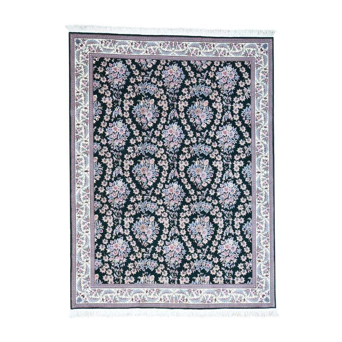 Hand-Knotted Sino Sarouk 250 Kpsi Pure Wool Rug 9x12