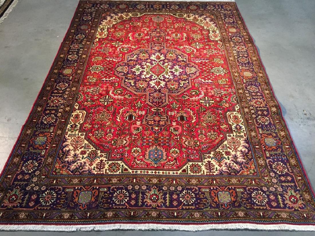 Authentic Persian Tabriz Rug 8.9x9.9