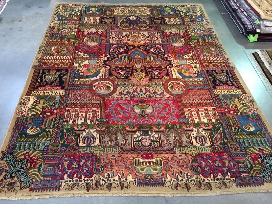 Antique Persian Kashmar Rug 9.8x12.7