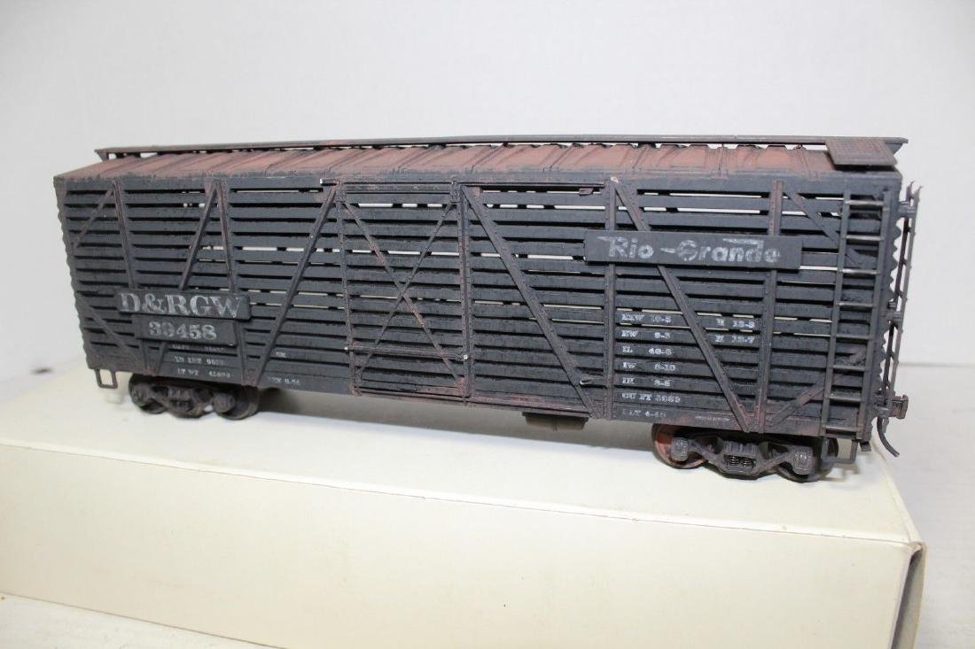 Atlas O Weathered D&RGW Stock Freight Car 2-Rail