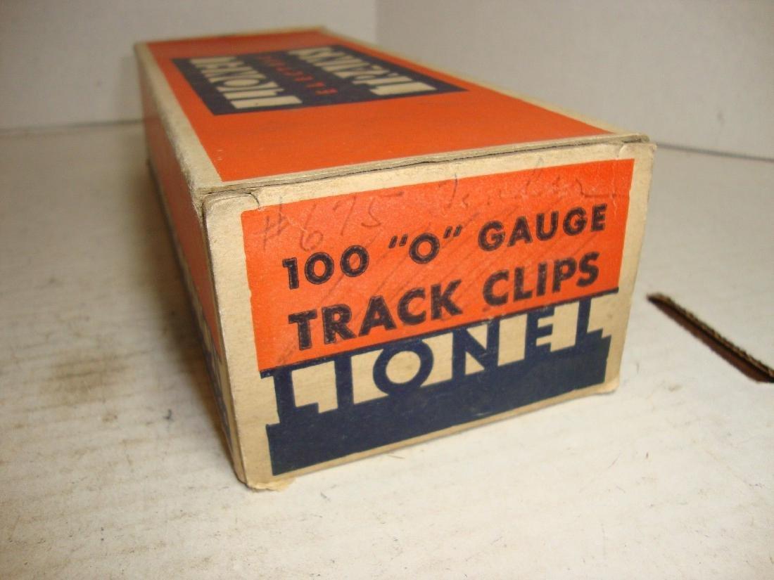 "Lionel Prewar ""O"" Gauge Box with 100 Track Clips"