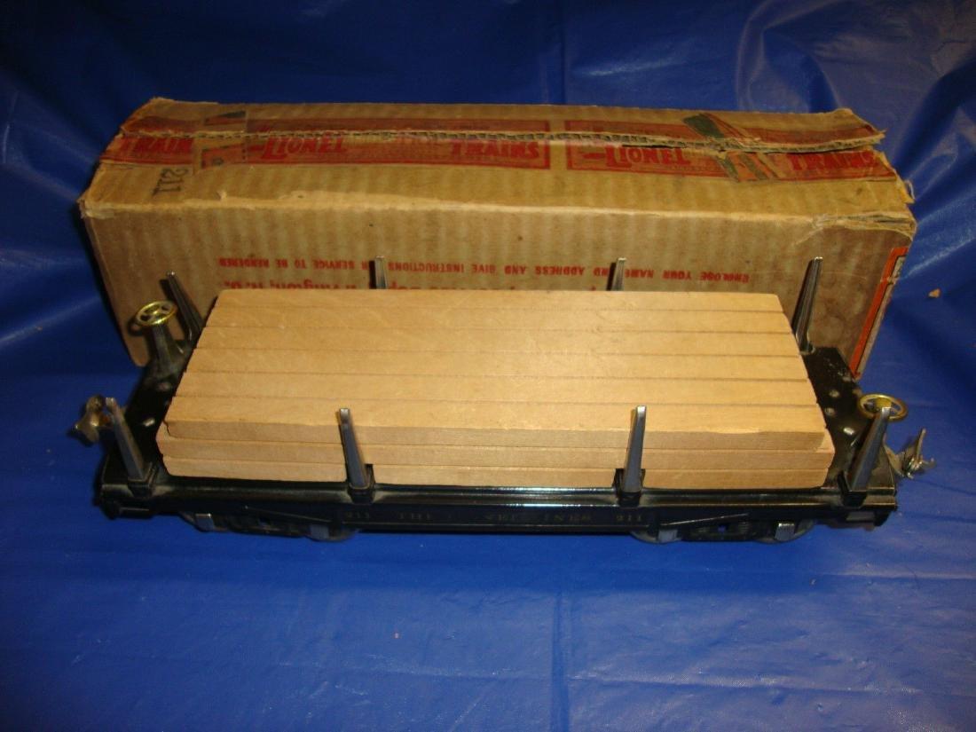 Lionel Prewar Standard Gauge 211 Flatcar Car Boxed