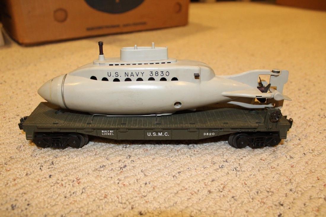 Lionel Postwar 3820 USMC Operating Submarine Flatcar