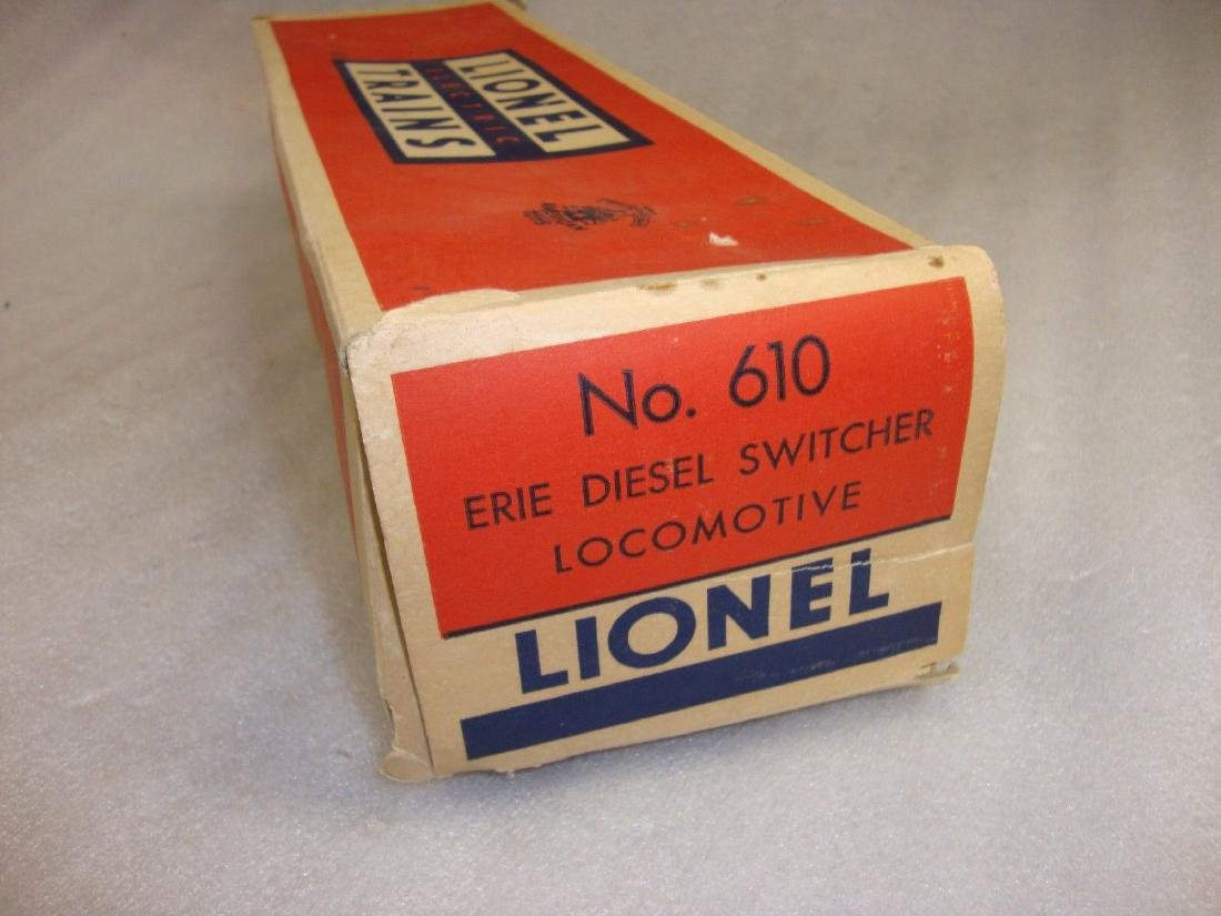 Lionel Postwar 610 Erie Diesel Empty Box 1955
