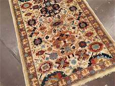 Antique Hooked Rug 14.6x3.9