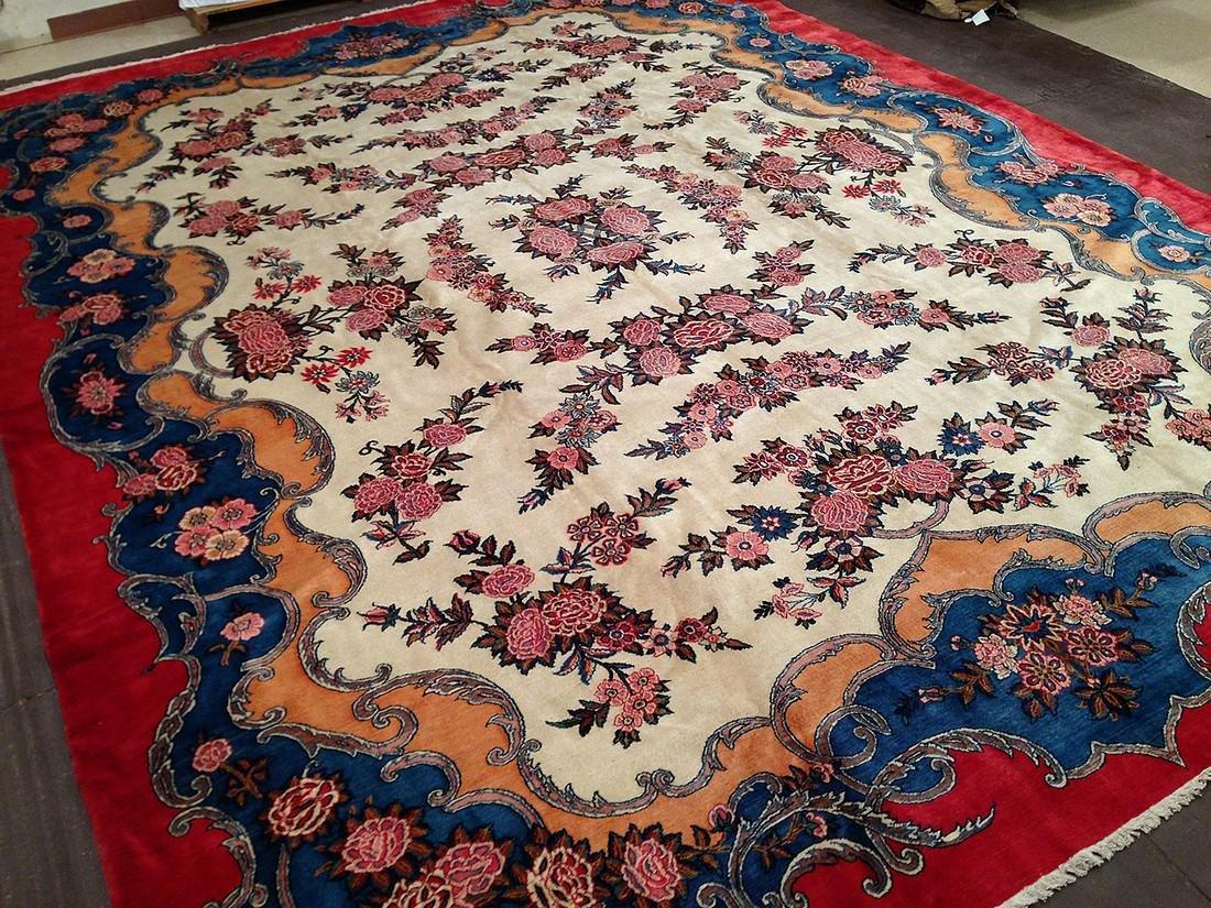 Vintage Kashan Rug 14.5x10.10