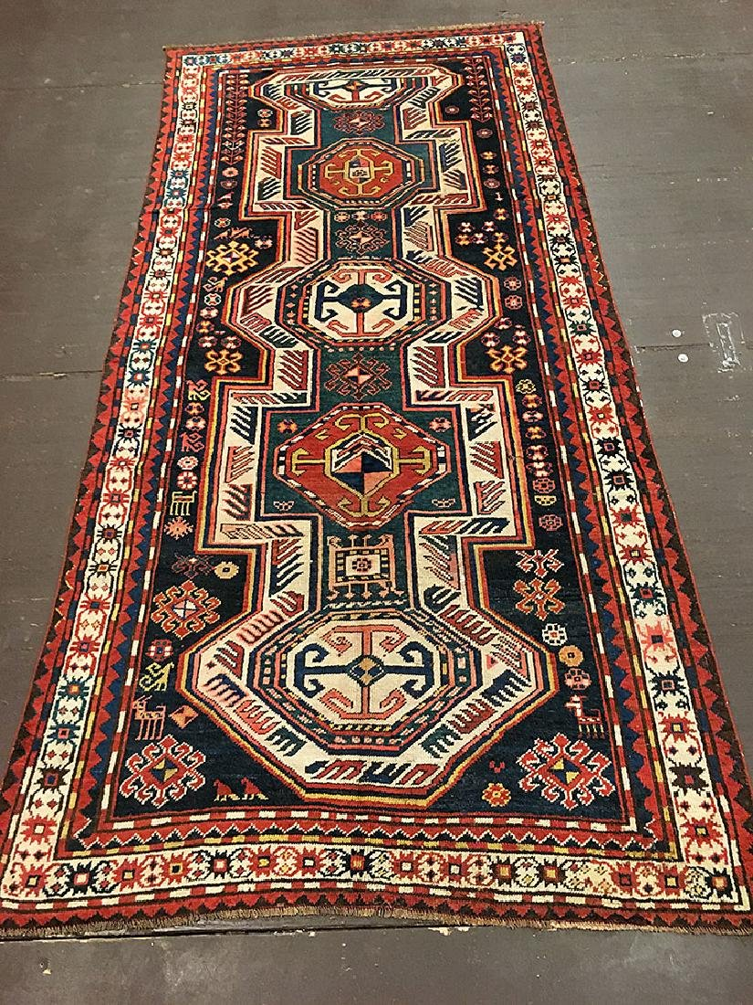 Antique Kazak Rug 8.8x4.2