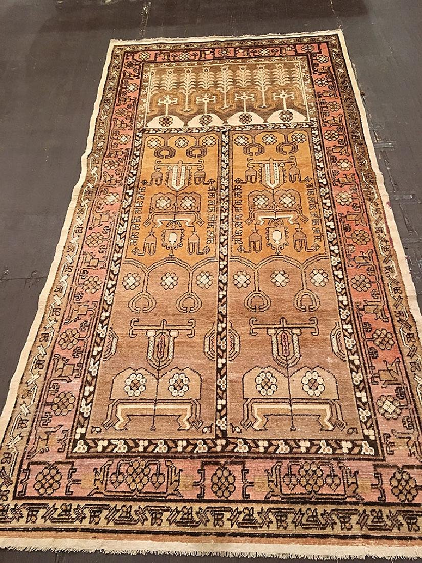 Antique Khotan Rug 9x4.7