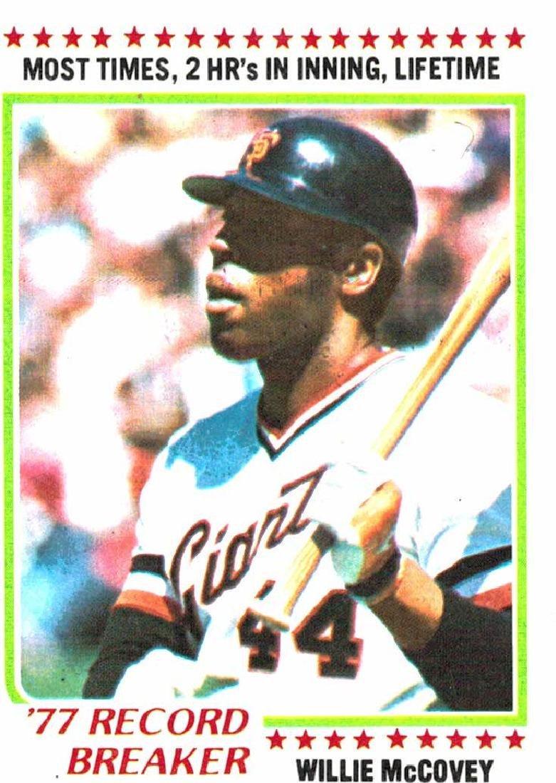 1978 Topps Willie McCovey Record Breaker
