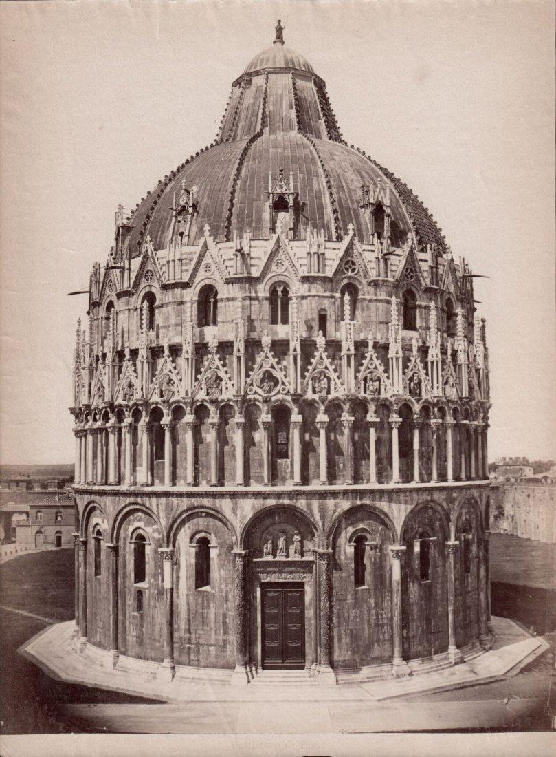 Battistero di Pisa 1880s Albumen Photograph