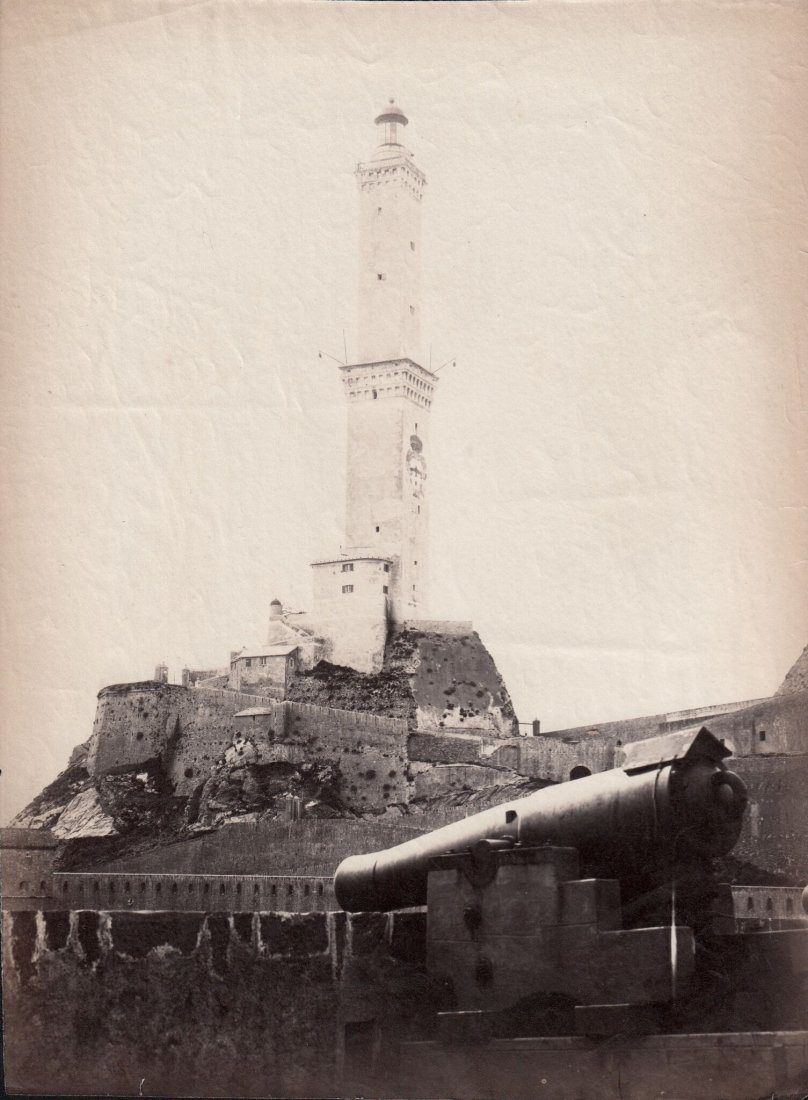Tower In 19th Century Italy 1880s Albumen Photograph