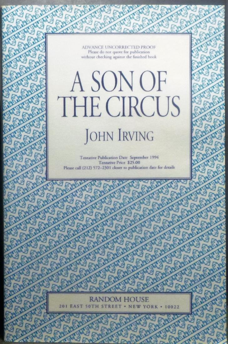 A Son of the Circus John Irving Signed First Ed 1994