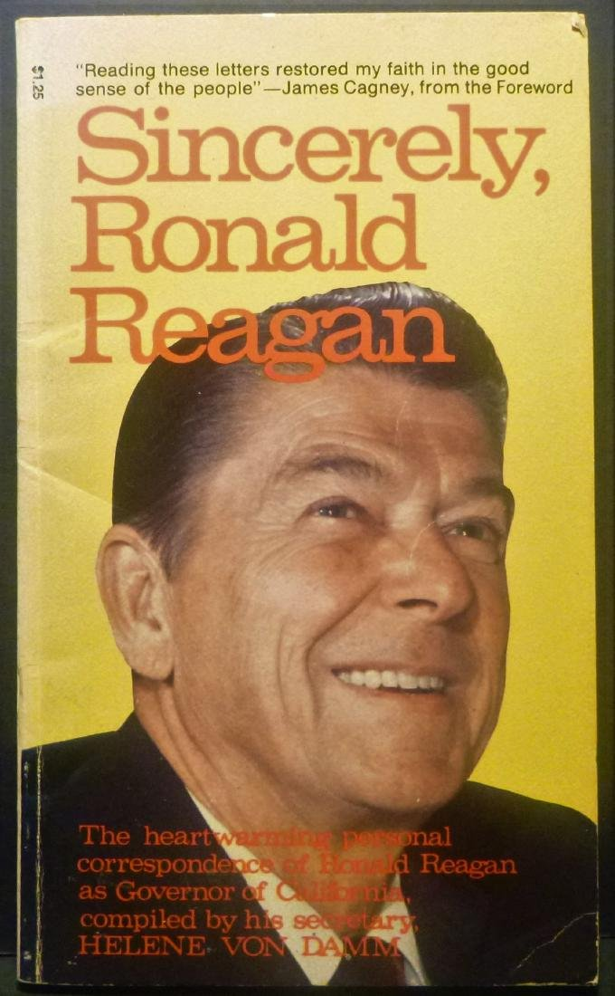 Sincerely Ronald Reagan Signed 1976