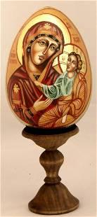 Wood easter egg Our Lady Iverskaya
