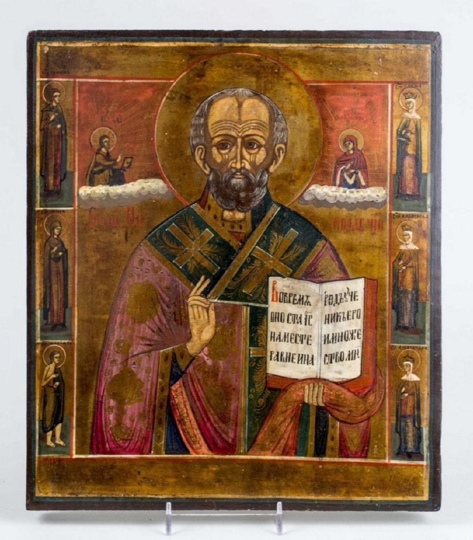 St.Nicholas with 6 saints